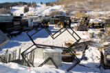 "Zach Ornitz/Special to the Rocky Mountain News A metal ""X"" sits in the parking lot of..."