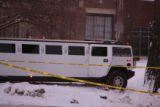 The scene where Broncos player Darrent Williams was shot in a Hummer limousine  shortly after 2...