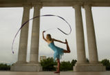 (DENVER, CO. August 5, 2004)  Greek and olympic fashion at Cheesman Park.  (Photo by ELLEN...