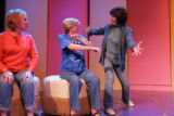 Actors Pamela Myers, (Cq), left, and Teri Ralston (cq), rehearse with director and choreographer...