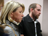 L toR Sandy Alpert  (cq) , aunt of Adam Hawkes (cq),  and Adam Hawkes  after sentencing of Kevin...