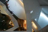 3:49 p.m. October 7, 2006.  Visitors fill the atrium of the new Frederic C. Hamilton building at...