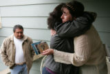 (RT) Angela Vialpando (cq) , Fermin Vialpando's aunt, is hugged by family friend Judy Diaz  at her...