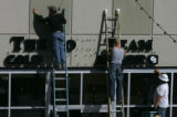 ing Signs sign installers put up the Coldwell Banker sign at the brand new Twenty Ninth Street...