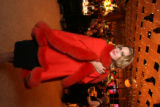 Aubrey Brewer models one of the evening's live auction items. Proceeds benefit the Colorado...