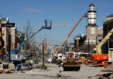 Construction crews continue to work on Main Street in Southlands, October 19, 2006 in Aurora. Main...