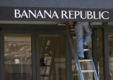 Work continues on the Banana Republic store on Main Street in Southlands, October 19, 2006 in...
