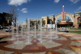 This fountain is in front of the movie theater on Main Street in Southlands, October 19, 2006 in...