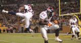 (JPM1445) In the third quarter, Denver Broncos Champ Bailey, #24, intercepts Pittsburgh Steelers...