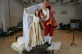 Opera Colorado Ying Huang, left, at Pamina, and Mel Ulrich as Papageno rehearse for the opera,...
