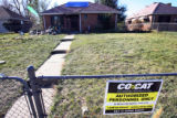 The exterior front yard of the residence at 2349 Poplar St., Denver, Colo., Monday October 23,...