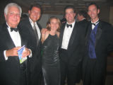 Royal subjects at the Booklovers' Ball included, from left, Don Greco, Matt Keeney, Danielle and...