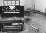 The organ practice room high in a tower of Macky Auditorium where the body of Elaura Jeanne...