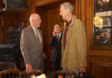 (Boston, MA, Shot on: 7/27/04) (from left) Senator Patrick Leahy (D) Vermont, Congresman Dennis...