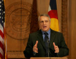 Colorado Gov. Bill Ritter talkes about his decision to veto House Bill 1072, an amendment to the...