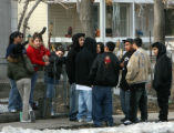 A crowd of friends gathered in front of 3715 Williams Street  Friday afternoon Friday February...