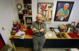 Joe DeLio (cq), 83, is retiring after more than 40 years of sharpening skates for everyone from...