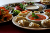 World Plate Food section:  Vegetable Momo; Steamed mixed vegetable dumpling served with tomato...