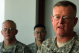 (DLM0210) -  Lt. Gen. Kevin Kiley, the Army's surgeon general, speaks with reporters  about the...
