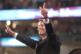 [(Boston, MA,Shot on: 7/28/04)] Democratic candidate for Vice President John Edwards addresses the...