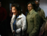 L to R Christine Wolfe (cq) mother of Vivian Wolfe, and Rhonda Marshall-Fields (cq), mother of...