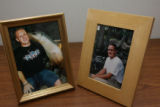 Sean Flanagan, age 17 in both photos provided by the family. Dan and Laura Flanagan, (cq), wait to...