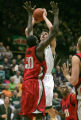 Colorado State center Jason Smith is defended by UNLV's Joel Anthony in the first quarter  of the...