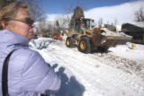 Denver Councilwoman Jeanne Robb (cq) watches as Public Works and Operations held a demonstration...