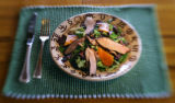 Duck breast salad served at lunch one afternoon. The 1,500 acre Home Ranch in Clark, Colo. is a...