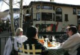 Diners enjoy apres ski at Pepe's in Vail Village in Vail, CO Tuesday afternoon February 6, 2007....