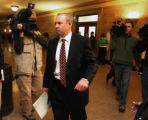 Stanley Sample (cq)  walks into Denver County Court Tuesday morning February 20,2007. Sample pled...