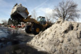Snow and ice removal at 12th Ave. and Glencoe Street on Tuesday February 6,2007.Mayor John...