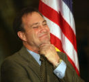 U.S. Rep. Ed Perlmutter (cq) D-Co. smiles during a press conference at the capitol Wednesday...