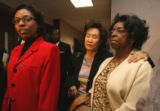 L to R: Rhonad Marshall-Fields, mother of Javan Marshall-Fields, Christine Wolfe, mother of Vivian...