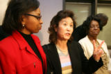 L to R: Rhonda Marshall-Fields, mother of Javan Marshall-Fields, Christine Wolfe, mother of Vivian...
