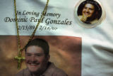 JM1099 -  18-year-old Dominic Paul Gonzales, was shot dead while driving his new car with his...