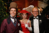 Entertainers Matthew Herrick, Elly Fryer and Rudy Benda, director of Le Clique, the entertainment...