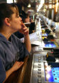 (DLM0925) -  Terry Schrader, 47, of Central City smokes a cigarette as she sits at the bar at the...