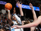 Denver Nuggets forward Carmelo Anthony shoots in the second quarter of play against the Memphis...