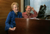 Current CSO director Jeffrey Kahane and former music director Marin Alsop sit together in the...