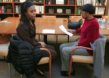 At the Daniels Fund Building in Denver, Jaleesa McIntosh (cq) 18 and her mother Paulette McIntosh...
