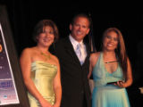 From left, Denver Hispanic Chamber of Commerce board Chairwoman Martha Rubi, Dan O'Malley, vice...