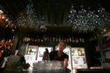 Julie Wirtz, (cq) 39 who has been waitressing on and off for 26 years fills some water glasses at...