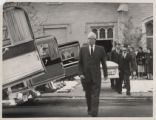 Pallbearers carry the casket of Ellen Craven to a hearse after a memorial service for her; her...
