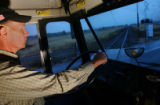 Ride-along with Glen Ford on his bus route in Weld County on Tuesday, October 10, 2006. (CHRIS...