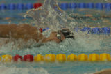 American swimmer Michael Phelps in the men's 200-meter freestyle at the Olympic Aquatic Center in...