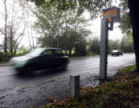 (NYT41) ESSEX, England -- Oct. 26, 2006 -- BRITAIN-SPEED-CAMERAS-2  A speed camera on the A128...