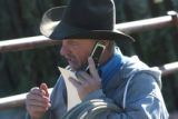 State Brand Inspector Eldon Crowder (cq) at the High Plains Auction Exchange in Brush, Colorado on...