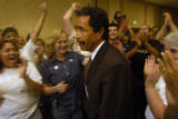 (DENVER, Colo., Aug. 16, 2004) United Food and Commercial Workers Local 7 president Ernie Duran...