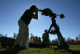 Mike Kennedy, cq, Lakewood,  peers through a telescope at the University of Denver's Chamberlin...
